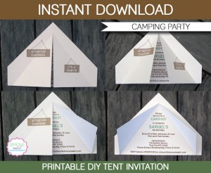 camping party invites