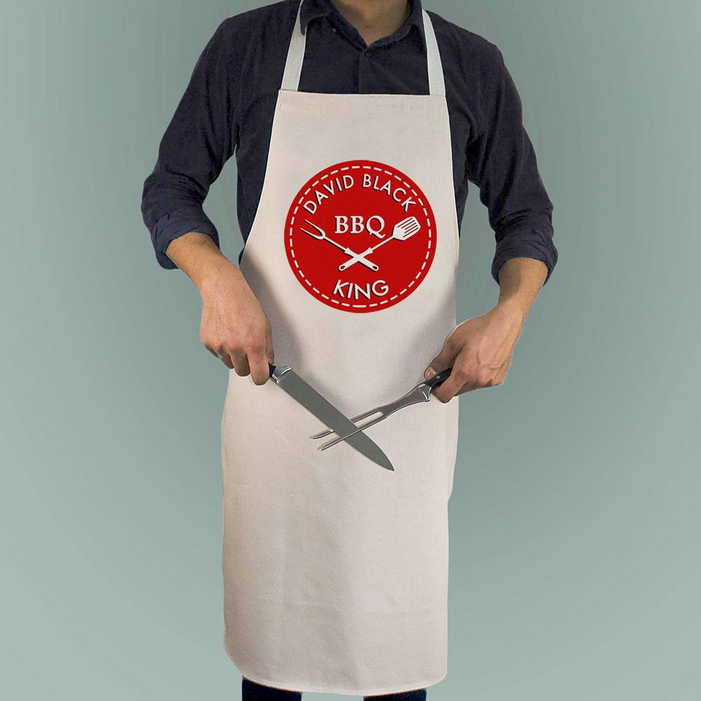 BBQ King Apron (Red or Yellow)
