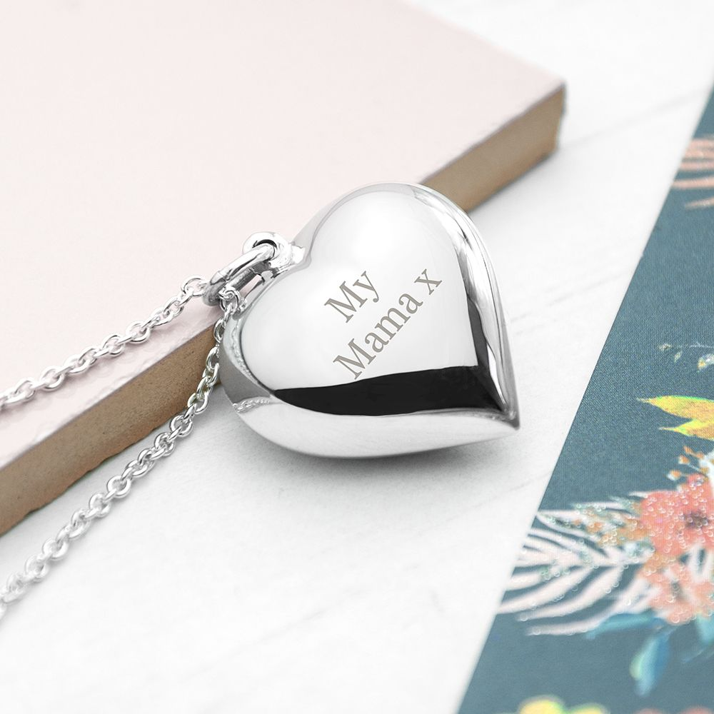 Personalised Cherish Heart Necklace - ideal gifts for her, Mother's Day, mum, daughter, friend, memorial keepsake