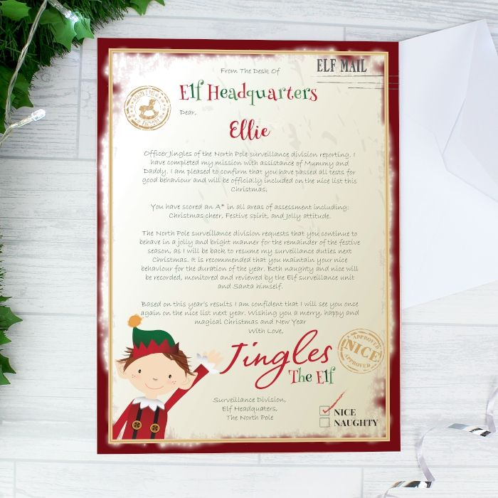 Elf Surveillance Christmas Letter