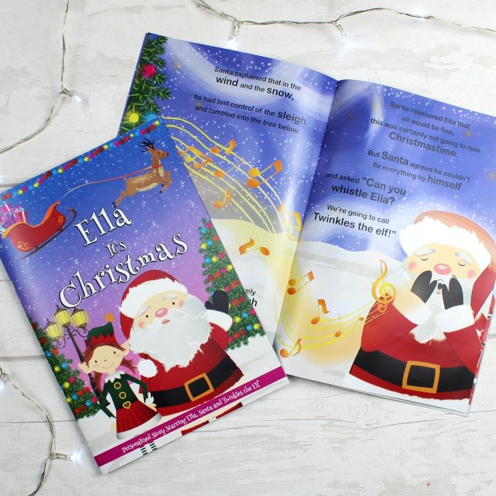 Its Christmas Eve.Girls It S Christmas Story Book Featuring Santa And His Elf Twinkles