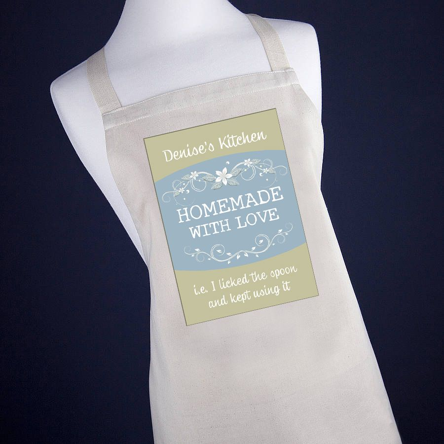 Homemade With Love Apron - Olive Green