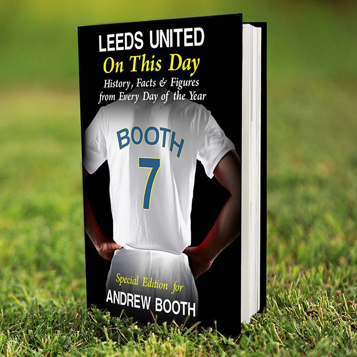 Personalised Leeds on this Day Book - ideal gift with all the facts for an avid football fan
