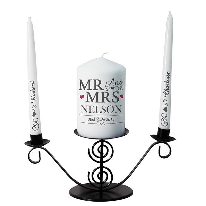 Personalised Mr & Mrs Unity Candle - P0409C17