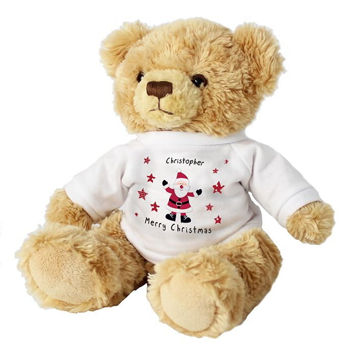 Spotty Santa Message Bear