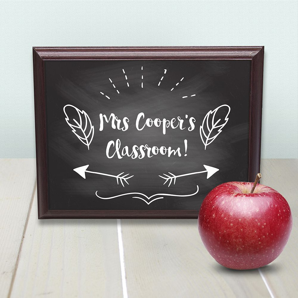 Personalised Teacher's Classroom Sign - ideal end of term gift for your favourite teacher
