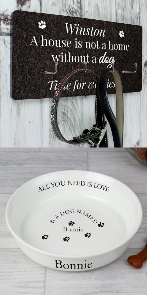 Personalised gifts for pets and pet lovers